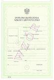 Dyplom ukończenia szkoły artystycznej dla uczniów szkoły policealnej