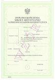 Dyplom ukończenia szkoły artystycznej w trybie eksternistycznym dla uczniów ogólnokształcącej szkoły baletowej