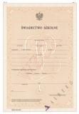MEN-I/12-SZ/2 - świadectwo dla uczniów klas I i II gimnazjów - placówki dyplomatyczne