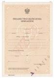 MEN-I/16-SZ/2 - świadectwo dla uczniów gimnazjów - placówki dyplomatyczne