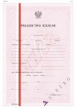MEN-I/21a-w/2 - świadectwo - klasa I i II liceum ogólnokształcące