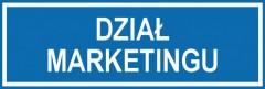 Tabliczka na drzwi - Dział marketingu