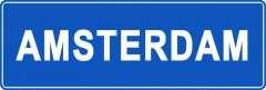 Tabliczki z nazwami miejsc i miejscowości (Amsterdam 1)