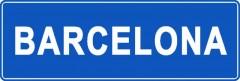 Tabliczki z nazwami miejsc i miejscowości (Barcelona 1)