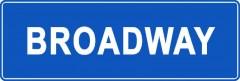 Tabliczki z nazwami miejsc i miejscowości (Broadway 1)