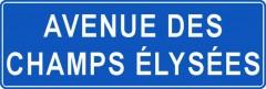 Tabliczki z nazwami miejsc i miejscowości (Avenue des Champs Élysées  1)
