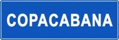 Tabliczki z nazwami miejsc i miejscowości (Copacabana 1)