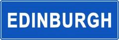 Tabliczki z nazwami miejsc i miejscowości (Edinburgh 1 )