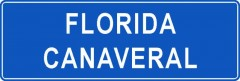 Tabliczki z nazwami miejsc i miejscowości (Florida Canaveral 1 )