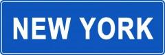 Tabliczki z nazwami miejsc i miejscowości (New York 1)
