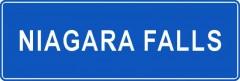 Tabliczki z nazwami miejsc i miejscowości (Niagara Falls 1)