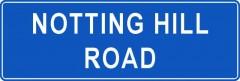 Tabliczki z nazwami miejsc i miejscowości (Notting Hill Road 1 )