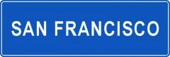 Tabliczki z nazwami miejsc i miejscowości (San Francisco 1)