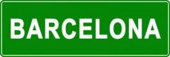 Tabliczki z nazwami miejsc i miejscowości (Barcelona 2)