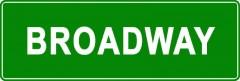 Tabliczki z nazwami miejsc i miejscowości (Broadway 2)