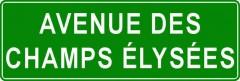 Tabliczki z nazwami miejsc i miejscowości (Avenue des Champs Élysées  2)