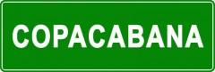 Tabliczki z nazwami miejsc i miejscowości (Copacabana 2)