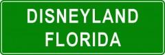 Tabliczki z nazwami miejsc i miejscowości (Disneyland Florida 2)