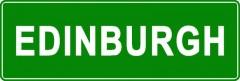 Tabliczki z nazwami miejsc i miejscowości (Edinburgh 2)