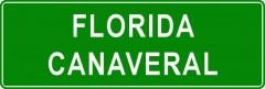 Tabliczki z nazwami miejsc i miejscowości (Florida Canaveral 2)