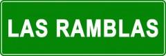 Tabliczki z nazwami miejsc i miejscowości (Las Ramblas 2)