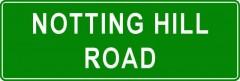 Tabliczki z nazwami miejsc i miejscowości (Notting Hill Road 2 )