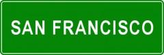 Tabliczki z nazwami miejsc i miejscowości (San Francisco 2)