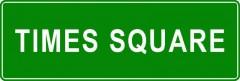 Tabliczki z nazwami miejsc i miejscowości (Times Square 2)
