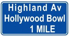 Tabliczki z nazwami miejsc i miejscowości (Hollywood Blvd 3 Duży )
