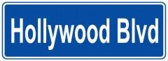 Tabliczki z nazwami miejsc i miejscowości (Hollywood Blvd 2 )