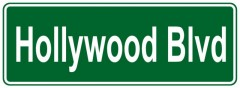 Tabliczki z nazwami miejsc i miejscowości (Hollywood Blvd 1 )