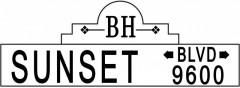 Tabliczki z nazwami miejsc i miejscowości (Sunset Blvd 2)